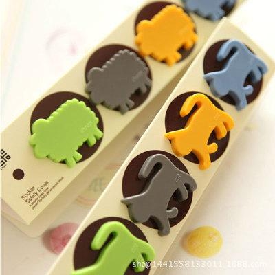 新奇特防触电插座保护盖 创意儿童安全防护卡 通排插安全盖插头盖