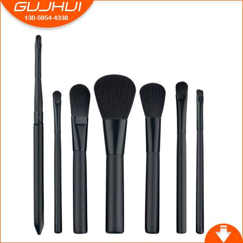 7支化妆刷套装 黑色化妆刷 美妆工具 单支化妆刷 厂家现货新款