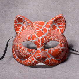 Animal Mask Black and White Fox Cat Mask Halloween Half Face Comet Prom Mask Party Cat Mask Decoration