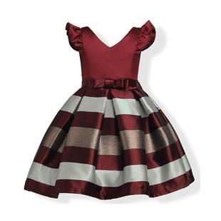 Cross-border Amazon children's clothing European and American girl dress foreign trade children's custom dress skirt princess dress one drop shipping