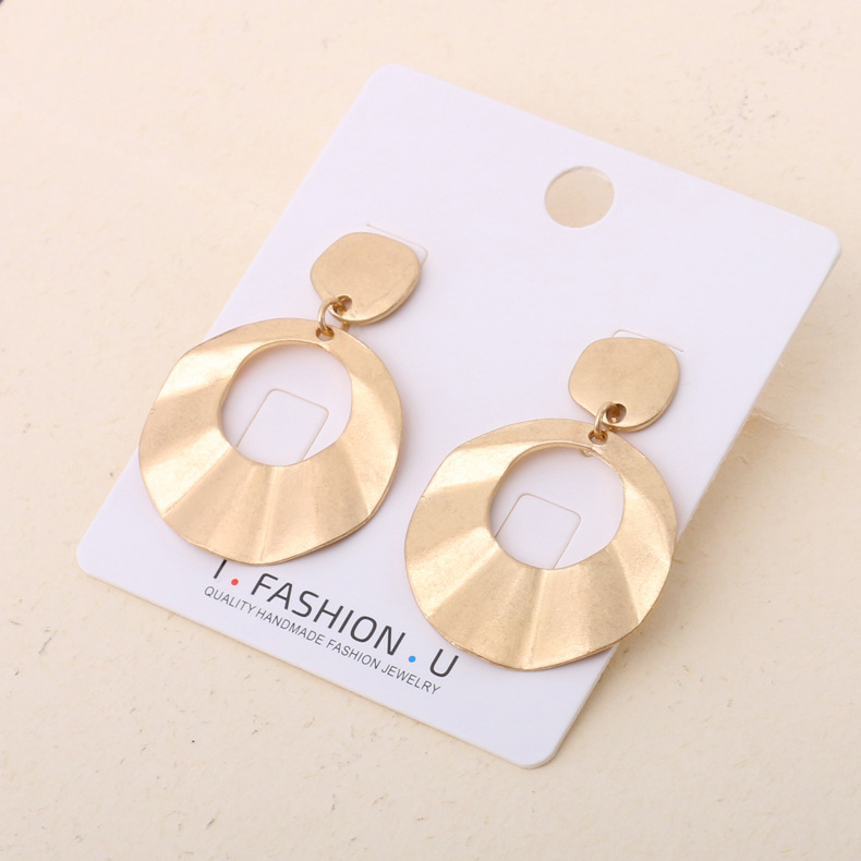 Occident and the United States alloy plating earring (Gold)NHBJ0264-Gold