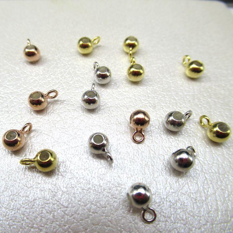 S925银DIY配件扣固定扣隔珠光珠散珠子银管带钩卡位定位珠批发