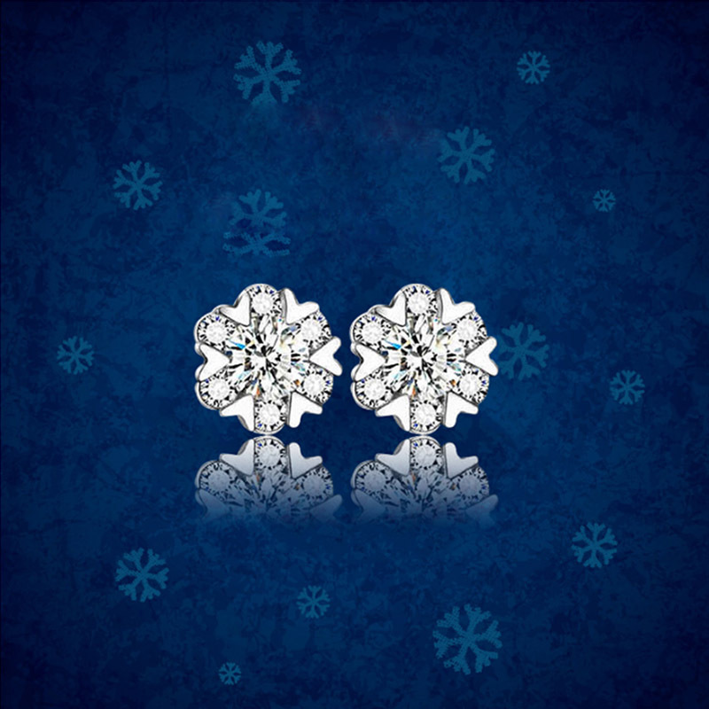 Korea style silver plating earring (Silver earrings a pair of -925 silver)NHLJ3411-Silver earrings a pair of -925 silver