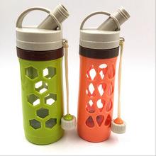 厂家直销 创意运动太空杯 时尚便携带嘴手提双层隔热水壶