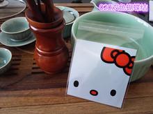 韩国烘焙饼干包装袋厂家批发双色蝴蝶结自粘袋 饼干烘焙包装袋