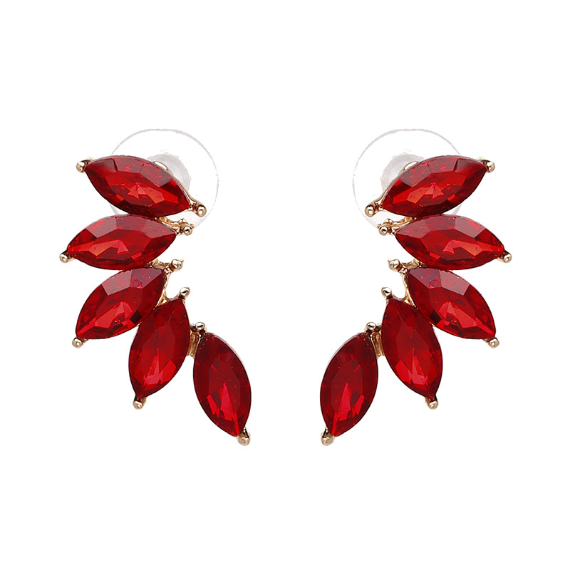Other Alloy Rhinestone earring Geometric (red)  NHJJ3675-red
