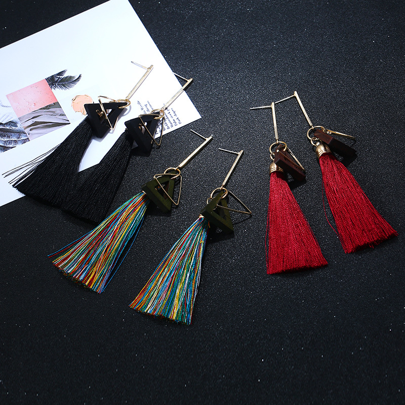 Occident and the United States alloy plating earring (color)NHVA4497-color