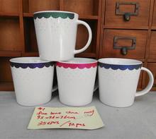 供应优质陶瓷杯 义乌外贸库存陶瓷水杯 蕾丝#1陶瓷烤花杯 促销品