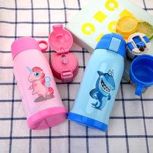 304 nhà sản xuất thép không gỉ biểu tượng tùy chỉnh cốc trẻ em quà tặng sáng tạo họ mang nồi cách nhiệt rơm Nồi trẻ em