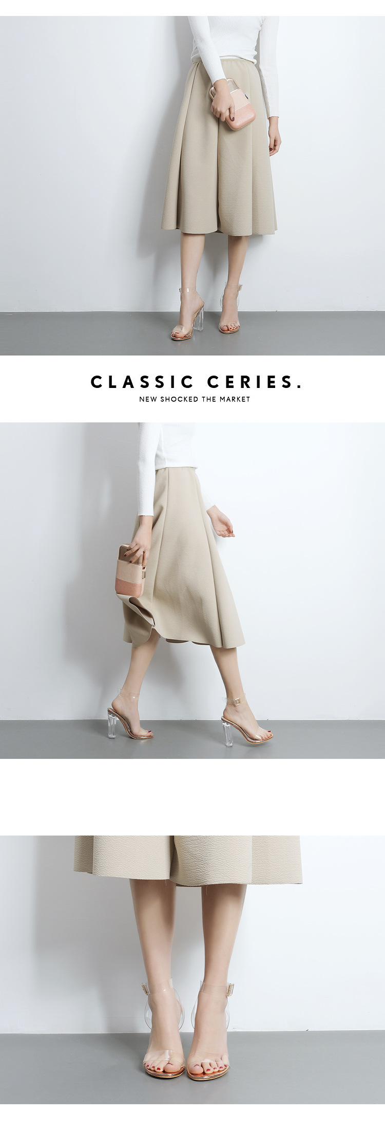 With open toe catwalk imitated crystal shoes transparent thick with sandals women s shoes SO190424119069