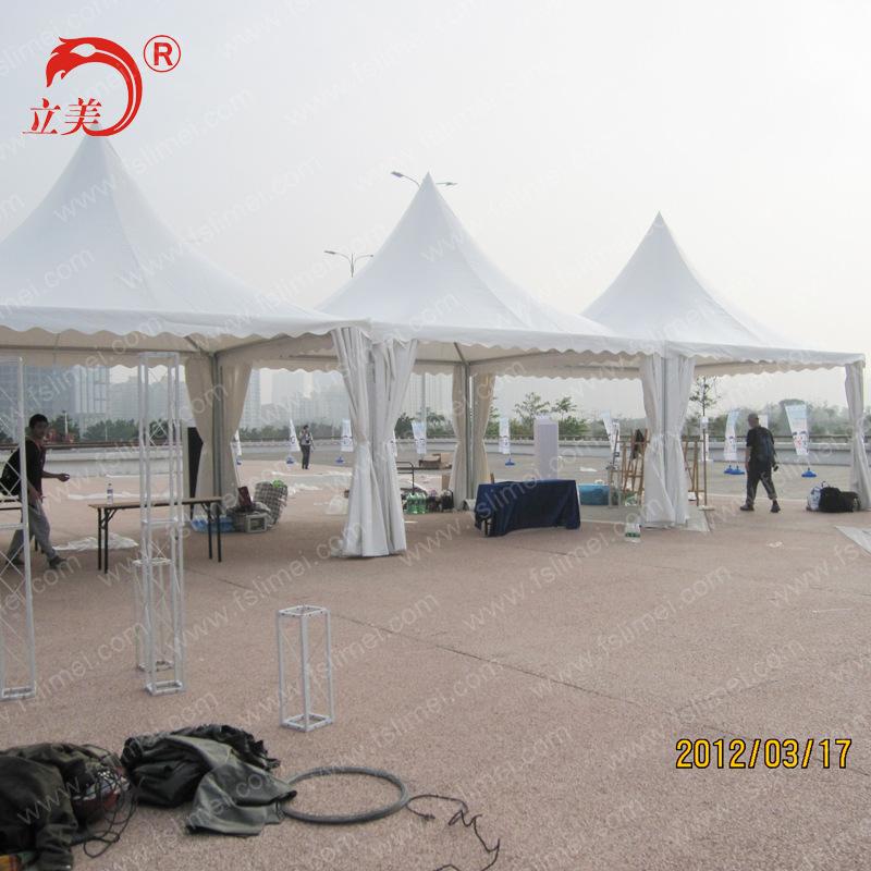 5米铝合金欧式尖顶篷房 锥顶帐篷 花园帐篷 结实耐用规格可定制