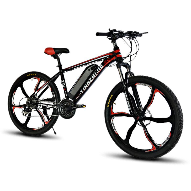 鹰之杰26寸电动自行车山地车 锂电池助力车 成人智能电瓶车单车