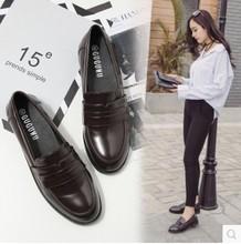 乐福鞋平底百搭学生复古韩版学院风小皮鞋牛津鞋英伦风女单鞋