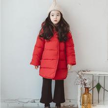 冬季新款韩版时尚加厚棉衣儿童羽绒棉服中大儿童学生保暖长款棉衣