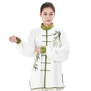 Tai chi Clothing embroidered kung fu uniforms morning execises training clothes martial arts stage performance competition clothes