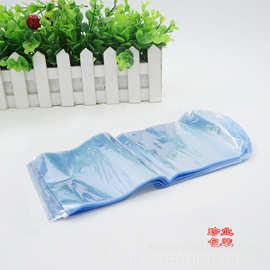 厂家直销 8*18cm PVC弧形袋 瓶子罐子收缩膜双面4C 透明PVC热缩袋