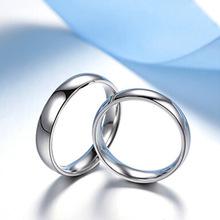 简单爱S925银戒指 韩国风情侣戒指环 光面情侣对戒银饰厂家批发