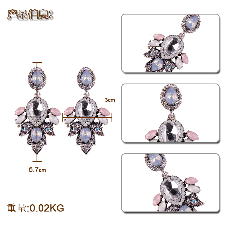 Fashion Imitated crystalCZ  earring Geometric color  NHJQ9736color