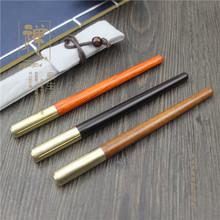 正大 非酸枝镶铜水性笔 金属中性笔木质笔 高档实木商务签字笔