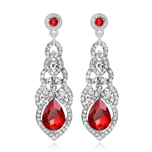 Exaggerated bridal wedding earrings, popular in Europe and America, diamond long earrings, cross-border exclusive selling jewelry