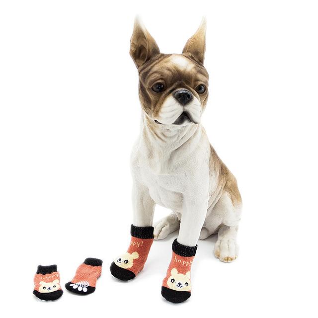 宠物袜子厂家直销蓝波儿宠物用品批发狗狗室内袜秋冬新款两节袜帅