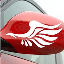 速卖通翅膀车贴 个性卡通搞笑后视镜车贴 汽车装饰反光镜车贴对装