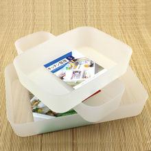 批发厨房餐具塑料整理盒 首饰零件收纳盒 多功能桌面抽屉储物盒子