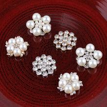 新款 合金水钻饰品配件 珍珠发饰辅料 头饰材料 DIY手机配件