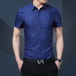 男短袖衬衫纯白色修身小领结婚衬衣夏季免烫英伦风商务正装半袖