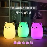 164 多彩生活创意七彩LED萌熊硅胶灯 捏不变形减压玩具灯礼品厂家
