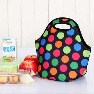 Factory stock neoprene lunch bag, sample or picture, customized picnic lunch bag, cooler bag can be printed with LOGO