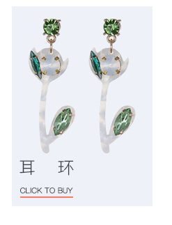 Acrylic Bohemia Geometric earring  (Alloy + dark green) NHTF0201-Alloy-dark-green