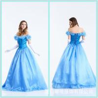 2018 Хеллоуин костюм для взрослых белый снег для маленькой принцессы Юбка-костюм золушка вечернее платье