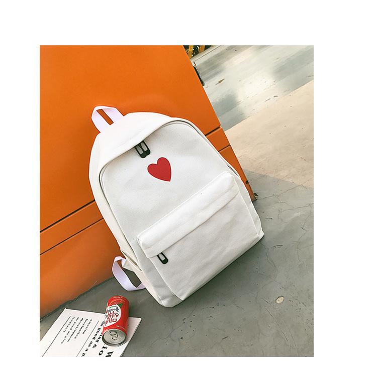 Cute Canvas  backpack  (black)  NHXC0045-black
