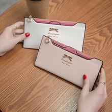 时尚新款女钱包 可爱蝴蝶结插卡式女士钱包长款皮夹 厂家爆款批发