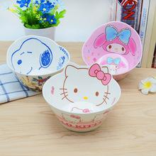 新款 密胺卡通造型碗防摔 印花儿童餐具美耐皿创意宝宝吃饭碗仿瓷