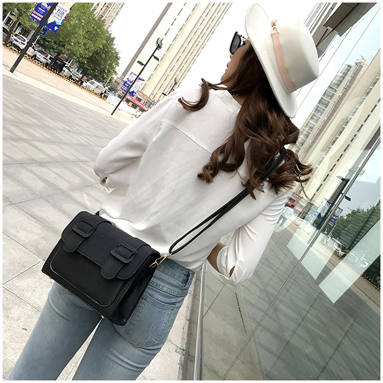Korean version PUfashion bag (brown)NHPB0189-brown