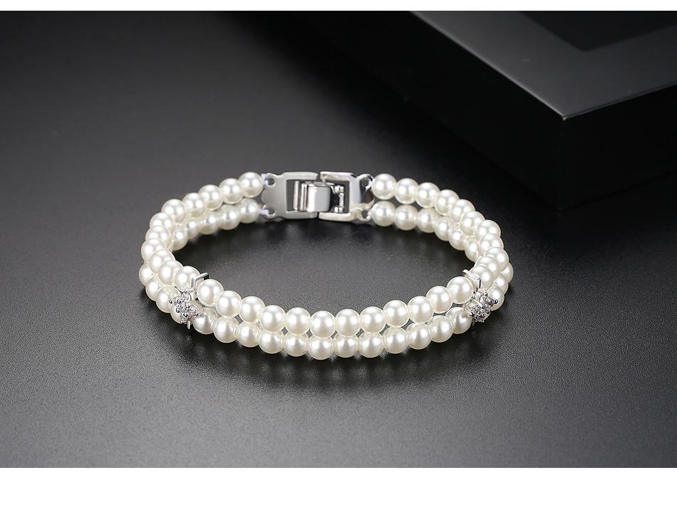 Alloy Fashion Geometric bracelet  Platinum 18cmT14D04 NHTM0462Platinum18cmT14D04