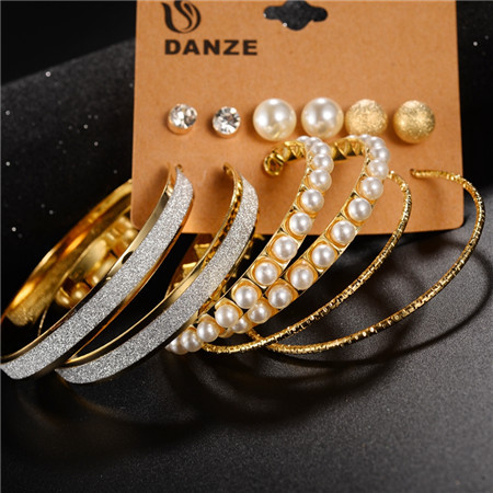 Alloy Fashion Geometric earring(Golden) NHZM0201-Golden