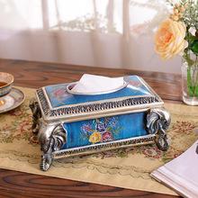 一件代發 紙巾盒定制logo 創意抽紙盒批發 東南亞風格裝飾家居擺
