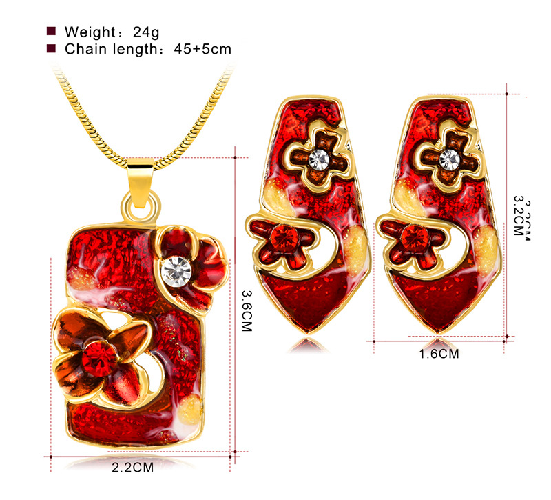 Occident and the United States alloy plating Necklace Set (CA563-C)NHDR1838-CA563-C