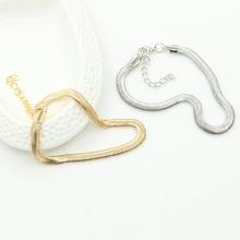 欧美时尚金属链条细鱼鳞脚链  蛇骨链手链 速卖通爆款饰品批发