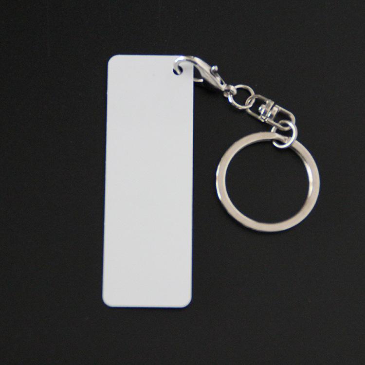 厂家直销热转印空白双面金属耗材DIY钥匙扣金属个性化钥匙长方形