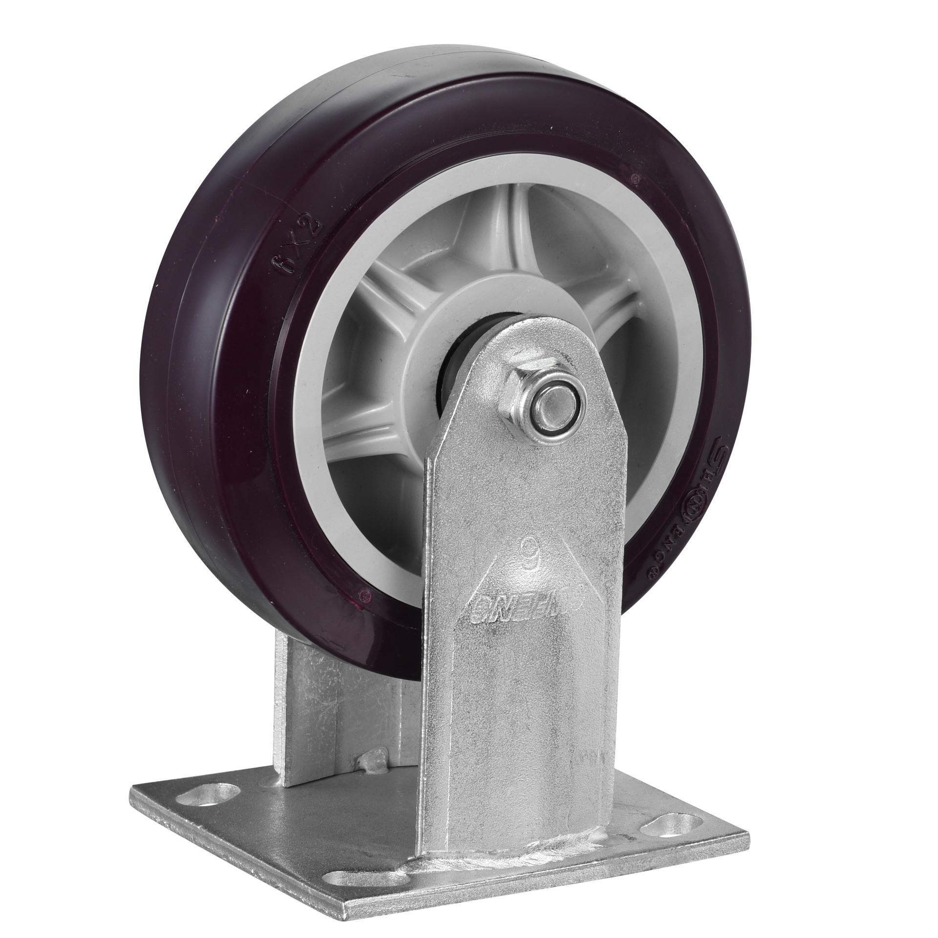 4寸重型超耐磨聚氨酯脚轮PU定向轮推车静音轮子江浙沪4只