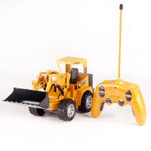 八十重工 遙控工程車工地車5通道仿真鏟車 六七八玩具批發91104
