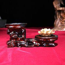 红木工艺品底座 圆形步步高多层奇石头雕刻摆架 紫砂壶木?#20449;?#25209;发