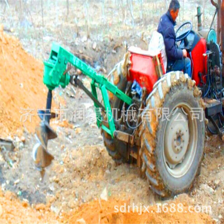 农用悬挂式拖拉机挖坑机   园林植树种树钻孔机  打眼柱桩机