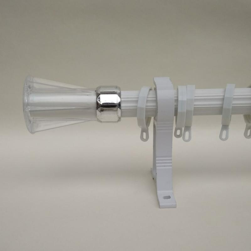 罗马杆装饰头窗帘杆堵头杆子封口优质塑料窗帘杆装饰头配件封口帽