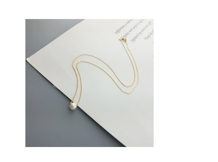 Silver Korea Geometric necklace(Yellow gold 45 centimeters) NHDY0213-Yellow gold 45 centimeters