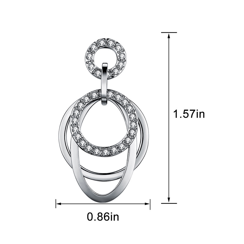 Alloy Korea Geometric earring(Rose gold) NHLJ3770-Rose gold
